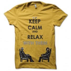Shirt daft punk keep calm jaune pour homme et femme