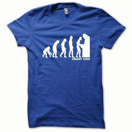 Shirt Evolution Insert coin blanc/bleu royal pour homme et femme
