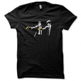 Shirt Banksy - Pulp fiction banana noir pour homme et femme