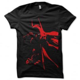 Shirt Batman ombre rouge en noir pour homme et femme
