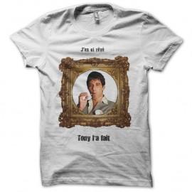 Shirt blanc tony montana pour homme et femme