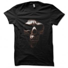 Shirt dark squelette noir pour homme et femme