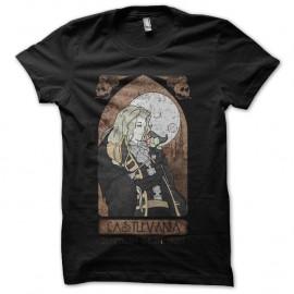 Shirt castlevania vitrail noir pour homme et femme