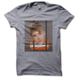 Shirt justin bieber en prison gris pour homme et femme