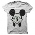 Shirt Mickey double FUCK blanc pour homme et femme