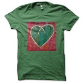 Shirt Coeur Uni vert pour homme et femme