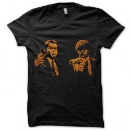 Shirt Pulp fiction ombres orange noir pour homme et femme