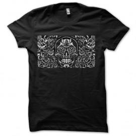 Shirt skull flower en noir pour homme et femme