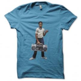 Shirt kid guetto blaster bleu ciel pour homme et femme