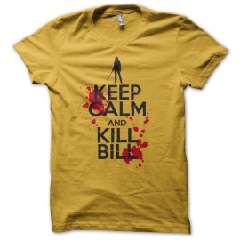Shirt keep calm and kill Bill jaune pour homme et femme