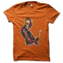 Shirt daft punk artistique orange pour homme et femme