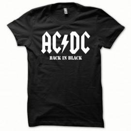 Shirt ACDC Blanc/Noir pour homme et femme