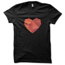 Shirt heart en 3D noir pour homme et femme