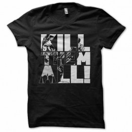 Shirt walking dead kill them all noir pour homme et femme