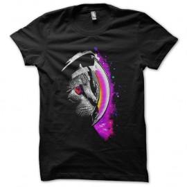 Shirt infinity cat noir pour homme et femme