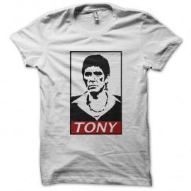Shirt tony montana parodie obey blanc pour homme et femme