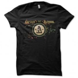 Shirt captain alcohol noir pour homme et femme
