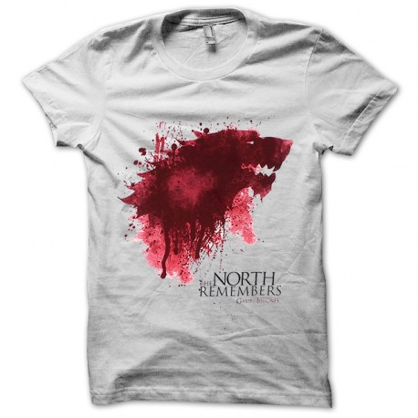 Shirt Game of Thrones North remembers blanc pour homme et femme