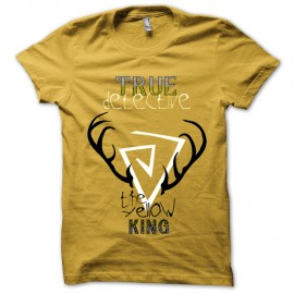 Shirt True Detective the Yellow king jaune pour homme et femme