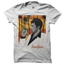 Shirt Scarface portrait Tony Montana - Blanc pour homme et femme