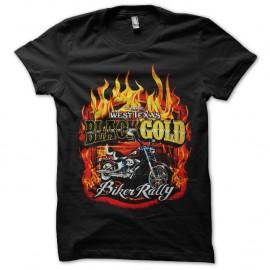Shirt black gold rally bikers noir pour homme et femme