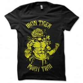 Shirt iron tiger muay thai noir pour homme et femme