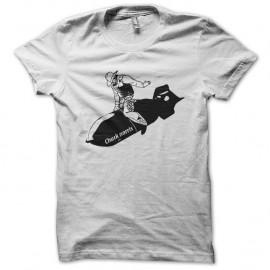 Shirt Chuck norris le missile blanc pour homme et femme