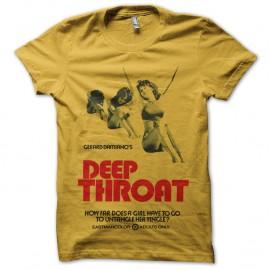 Shirt DeepThroat jaune pour homme et femme