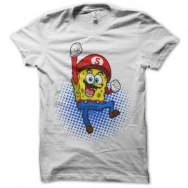 Shirt Mario L'éponge Blanc pour homme et femme