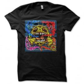 Shirt Pacman version horreur noir pour homme et femme