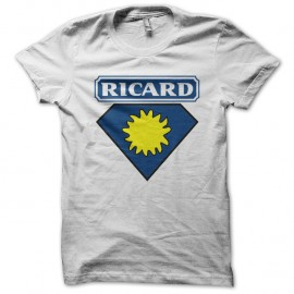 Shirt super ricard parodie superman blanc pour homme et femme