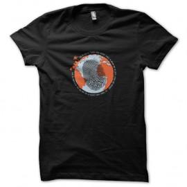 Shirt et dieu crea la terre noir pour homme et femme