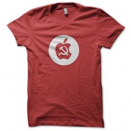 Shirt apple communist red pour homme et femme