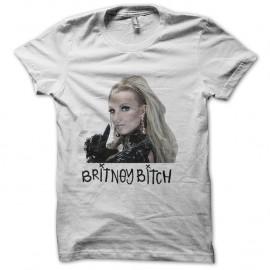 Shirt britney bitch blanc pour homme et femme
