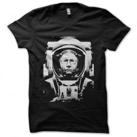Shirt Neil Armstrong trame noir pour homme et femme