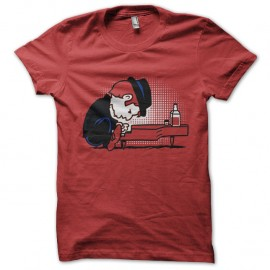 Shirt tom waits en cartoon rouge pour homme et femme