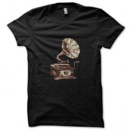 Shirt music vintage noir pour homme et femme