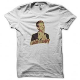 Shirt barney stinson legendaire blanc pour homme et femme