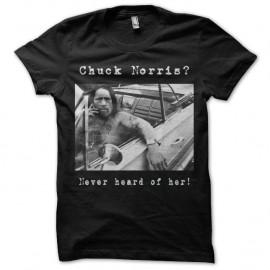 Shirt Danny Trejo Chuck Norris noir pour homme et femme