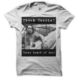 Shirt Danny Trejo Chuck Norris blanc pour homme et femme