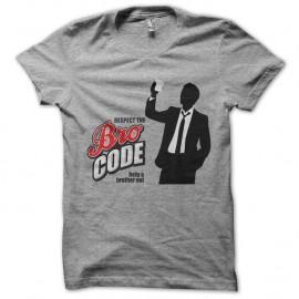 Shirt barney stinson respect the bro code gris pour homme et femme