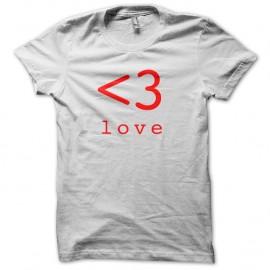 Shirt Love Blanc pour homme et femme
