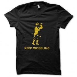 Shirt Keep wobbling noir pour homme et femme
