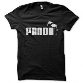Shirt Panda parodie puma noir pour homme et femme