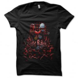 Shirt daft punk super heros noir pour homme et femme