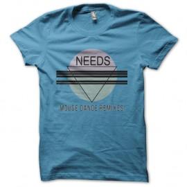 Shirt Needs house music bleu ciel pour homme et femme