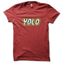Shirt YOLO lego rouge pour homme et femme