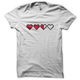 Shirt Heart Life gamer Blanc pour homme et femme