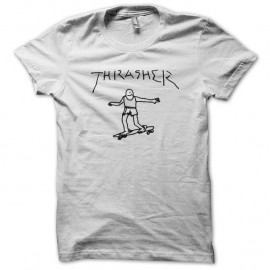 Shirt Thrasher spiderman blanc pour homme et femme