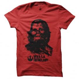 Shirt Viva la Rebelion parodie che guevara chewbacca rouge pour homme et femme